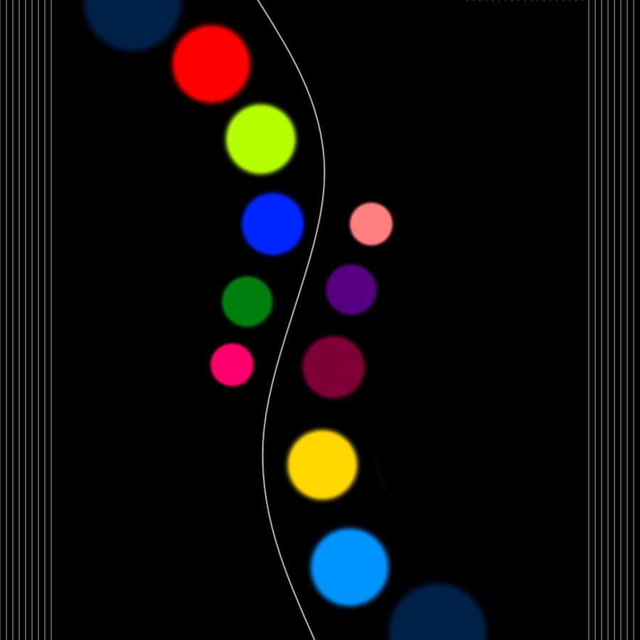 Dots Digital Art - Line Up by Lady Ls Designs