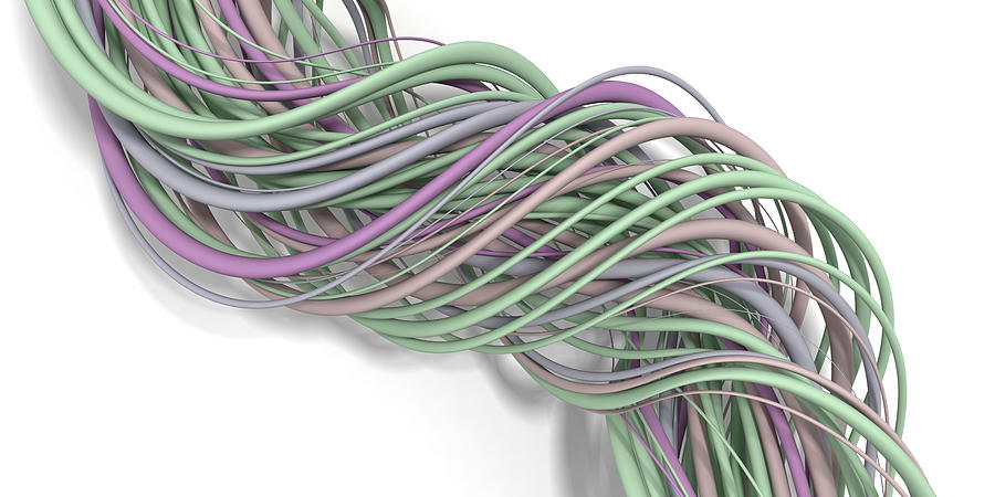 Abstract Digital Art - Lines and Curves 13 by Scott Norris