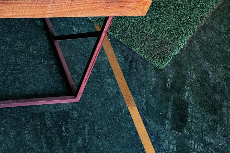 Minimalism Photograph - Lines versus the Floor Mat by Prakash Ghai