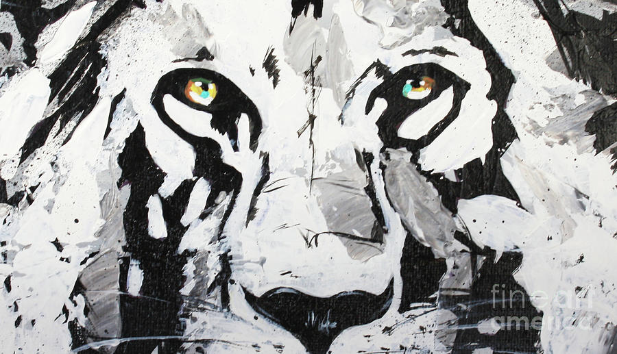 Lion Eyes Painting Painting
