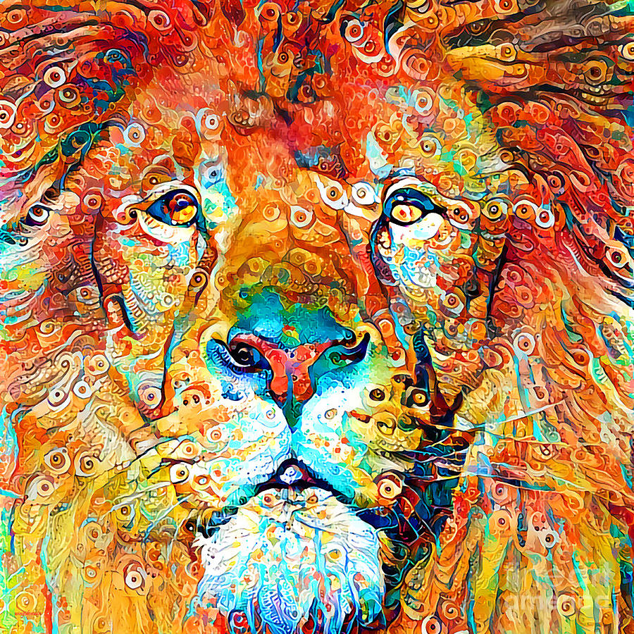 - Lion King Of The Jungle In Vibrant Abstract Colors 20200423 Square