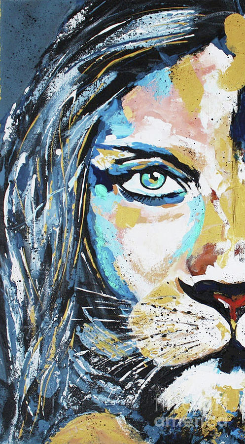 Lion Woman Painting Painting