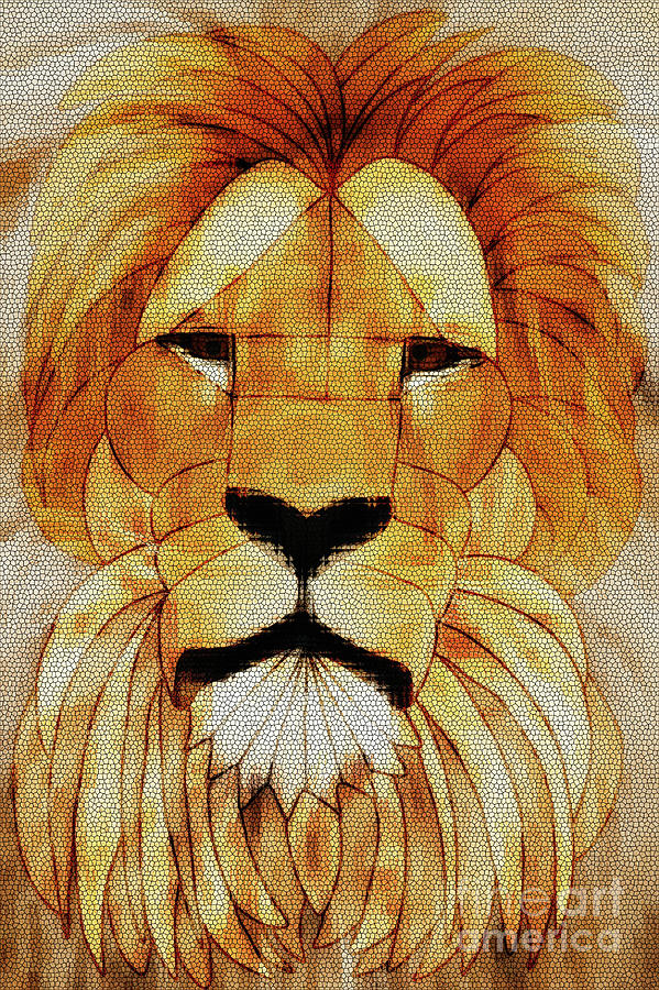 Lioness Stained Glass by Priscilla Wolfe