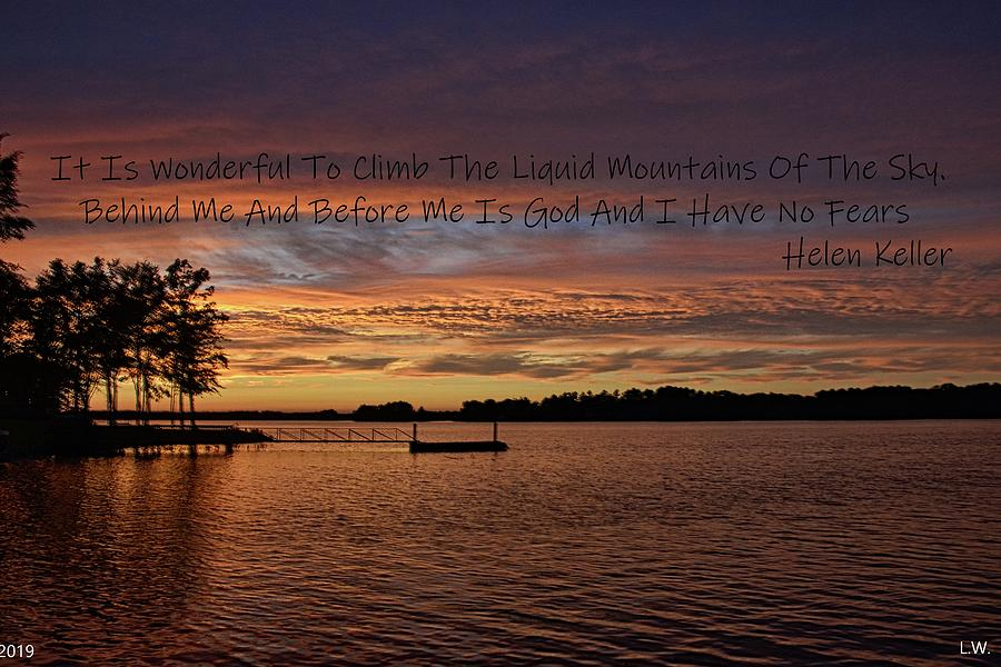 Liquid Mountains Of The Sky by Lisa Wooten