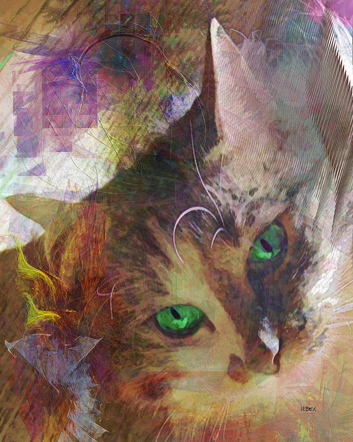 Cat Digital Art - Lisa Beckons by John Robert Beck