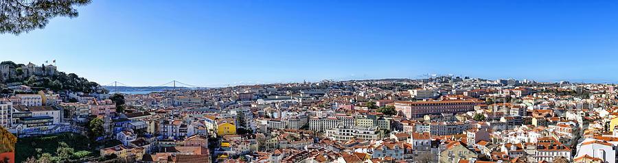 Lisbon Photograph - Lisbon Panorama  by Olivier Le Queinec