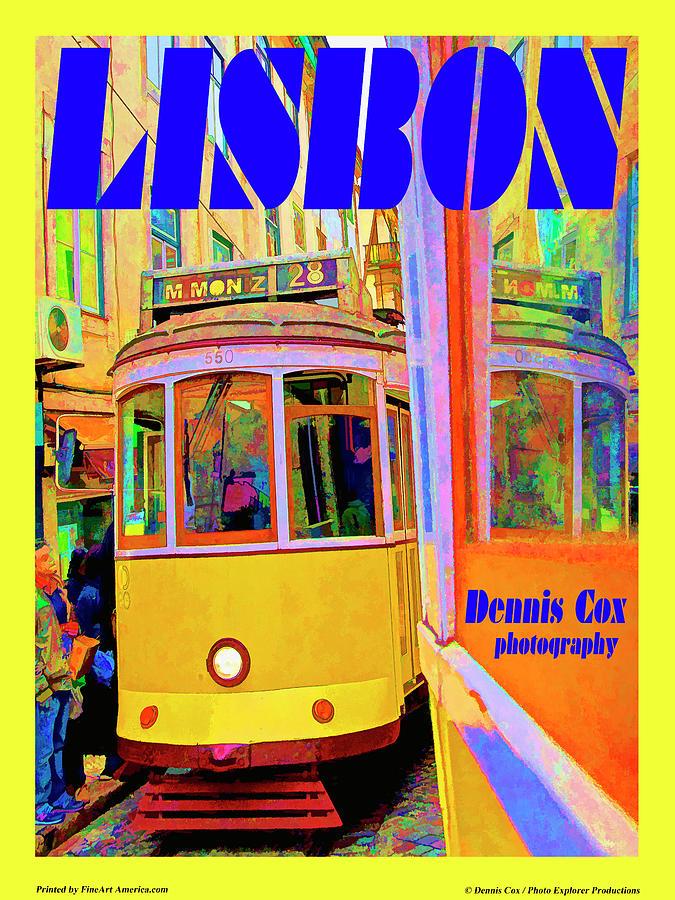 Lisbon Travel Poster Photograph