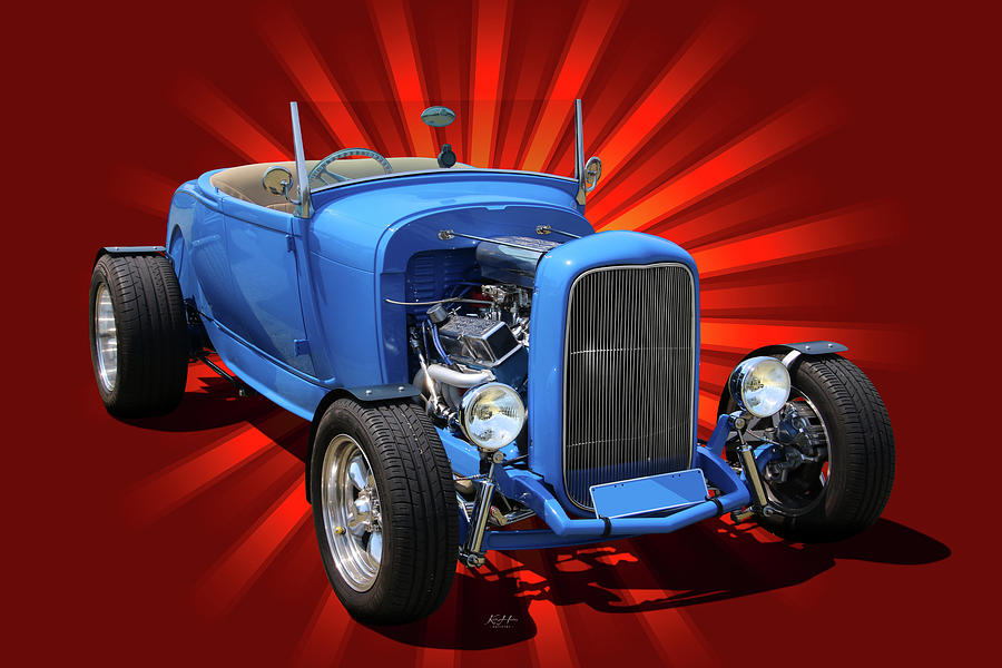 Little Blue Roadster by Keith Hawley