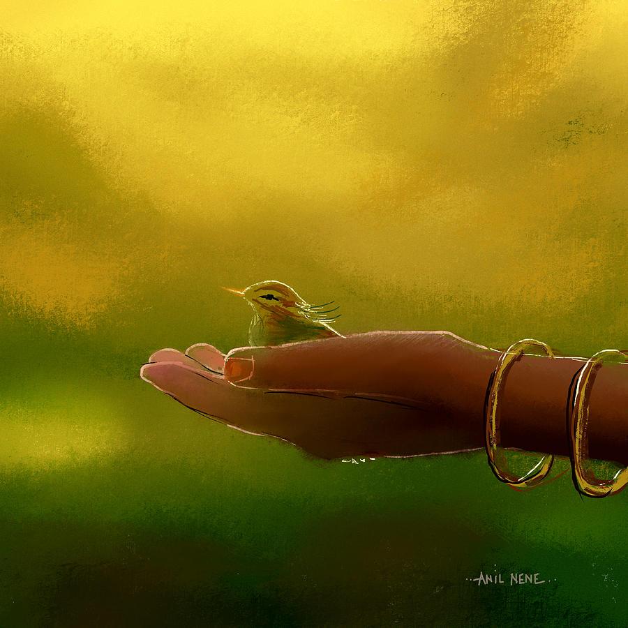 Little Cute Birdie Painting