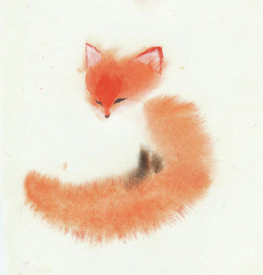 Little Fox II Painting by Mui-Joo Wee