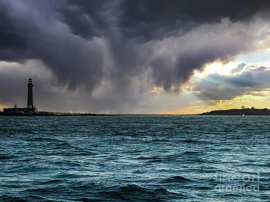 New York Photograph - Little Gull Island Light by Steven Norris