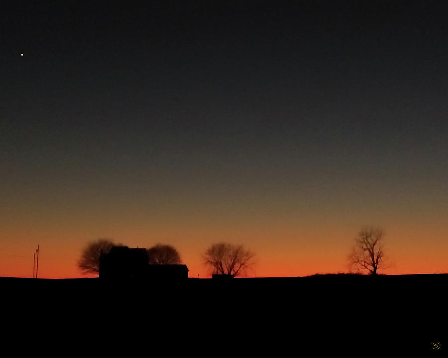 Little House on the Sunset Photograph by Staci Grimes