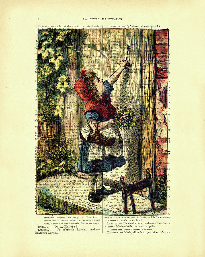 Little Red Riding Hood Mixed Media - Little Red Riding Hood  by Madame Memento