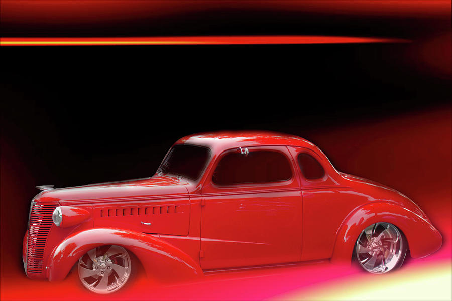 Little Red Roadster 100 by Cathy Anderson