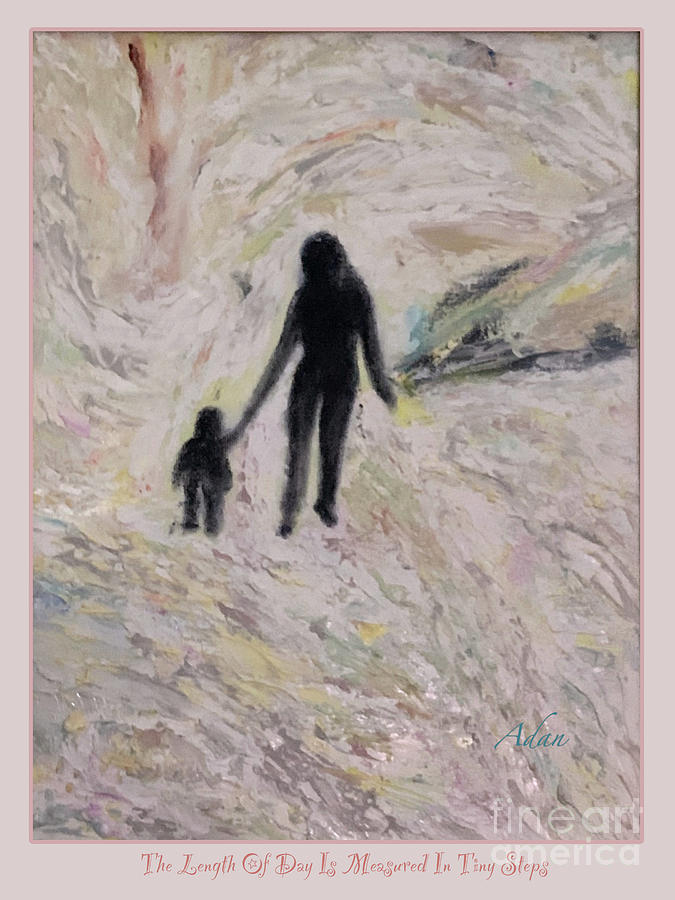 Mother With Child Digital Art - Little Steps Poster by Felipe Adan Lerma