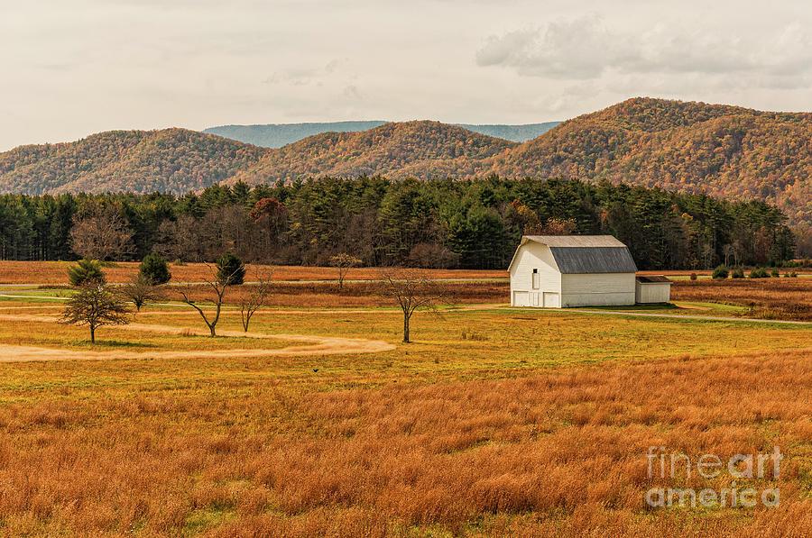Little White Barn - WV by Kathleen K Parker