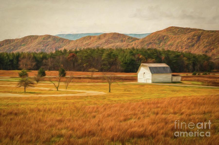 Little White Barn - WV- painted by Kathleen K Parker