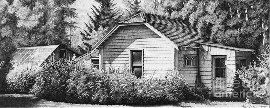 Little White House Drawing by Ross Coleman