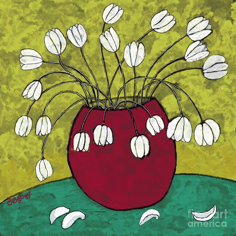 Little White Tulips Digital Art