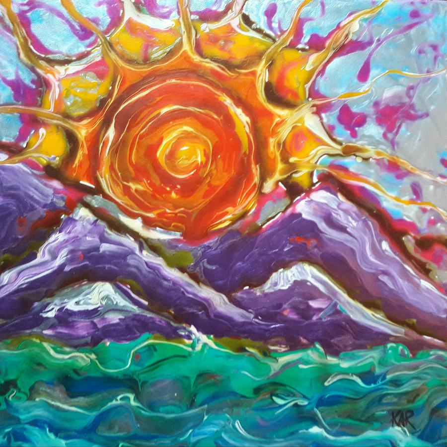Sun Painting - Lively by Art by Kar