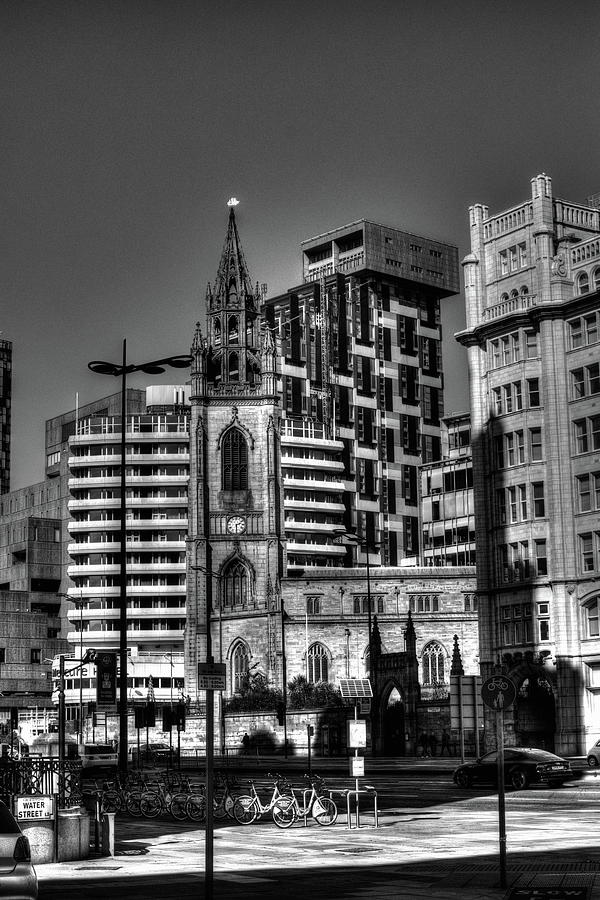 Liverpool Cityscape Monochrome Photograph