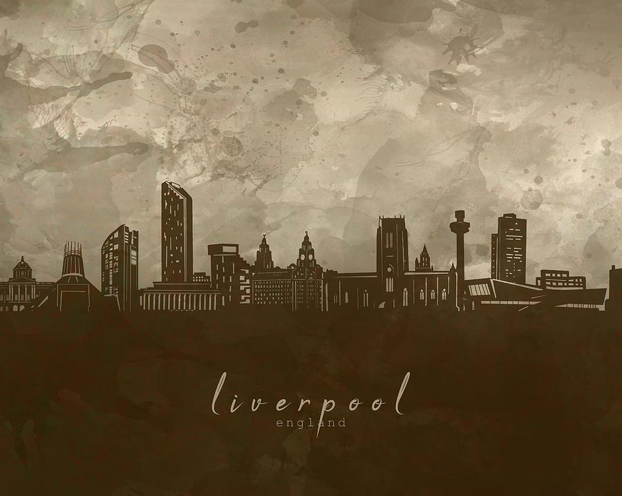 Liverpool Skyline Panorama 4 Digital Art