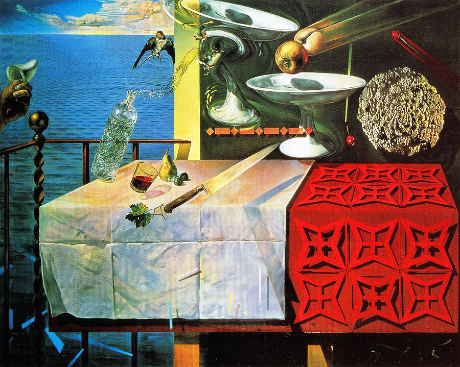 Living Still Life Surrealist Dali Painting Painting by Salvador Dali
