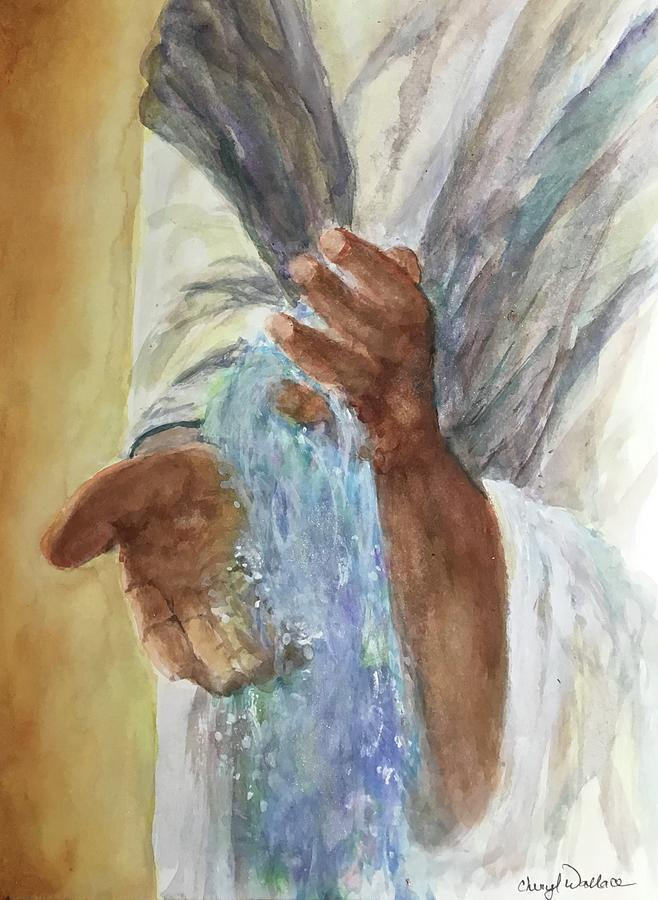 Jesus Painting - Living Water by Cheryl Wallace