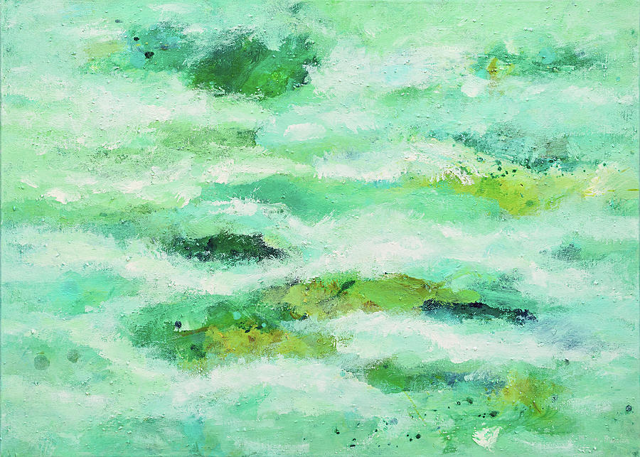 Abstract Seascape Painting - Living Water by Maria Meester