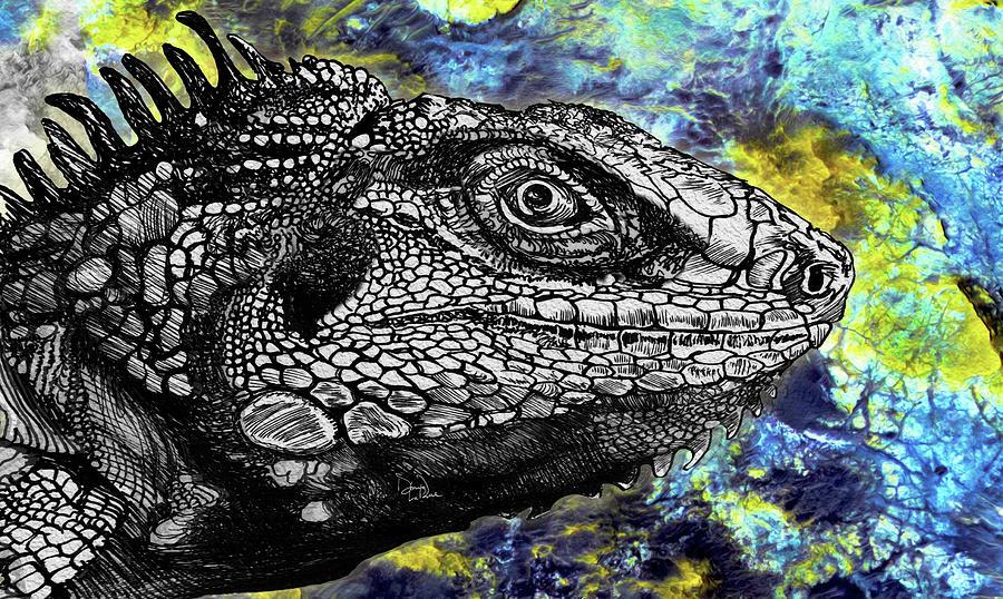 Lizard Profile Drawing