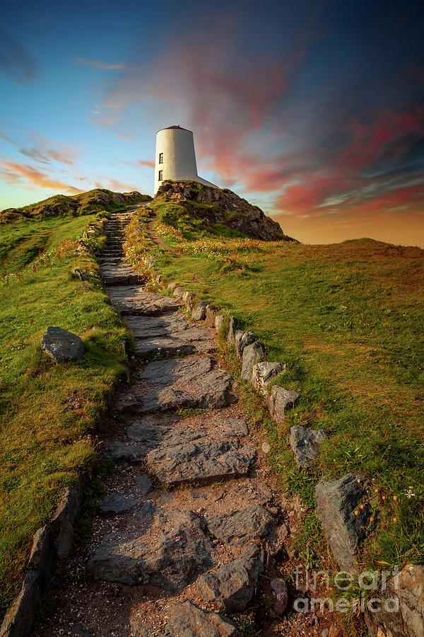 Llanddwyn Tower Anglesey by Adrian Evans