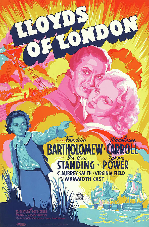 lloyds Of London 2, With Tyrone Power, 1936 Mixed Media