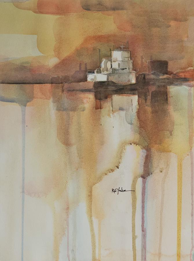 Barge Painting - Locking Up by Robert Yonke