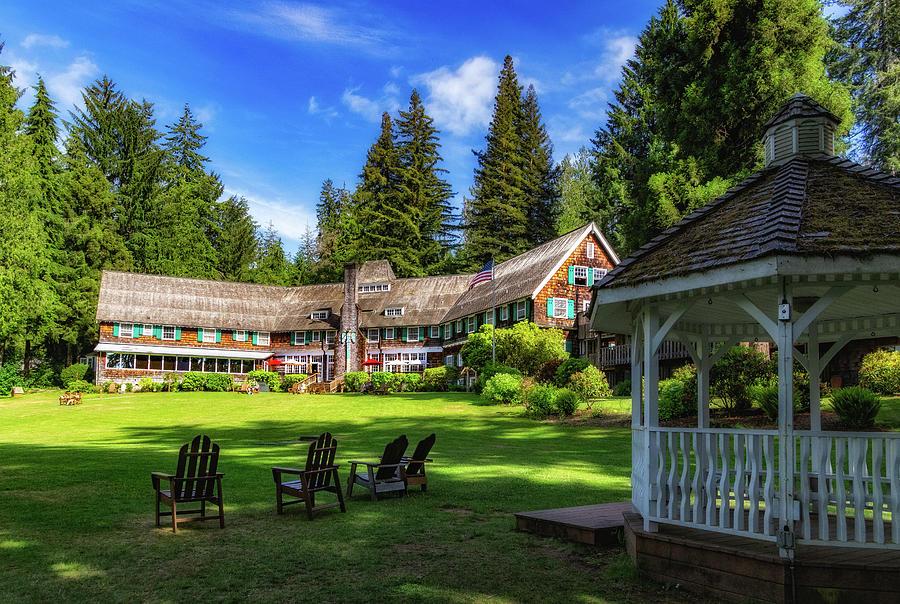 Lodge at Lake Quinault by Carolyn Derstine