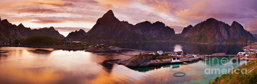 Lofoten Photograph - Lofoten Islands Panoramic, Norway by Justin Foulkes