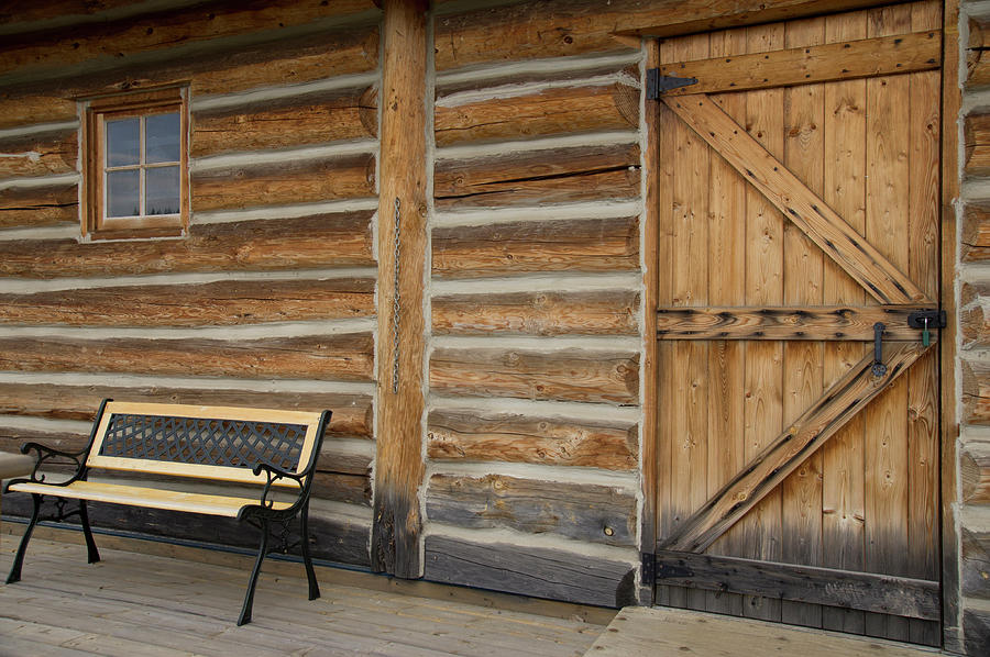Log Cabin British Columbia Canada Photograph
