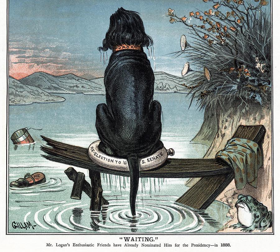 Logan Cartoon, 1885 by Bernhard Gillam