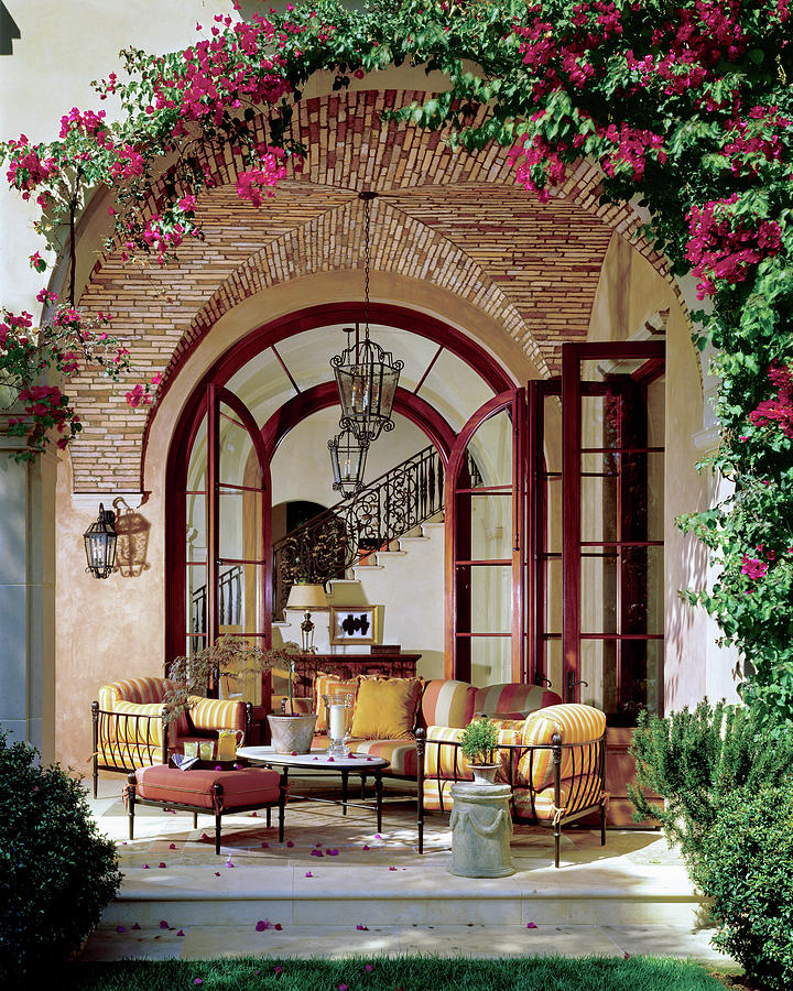 Loggia of a Tuscan-style House Photograph by Mary E Nichols