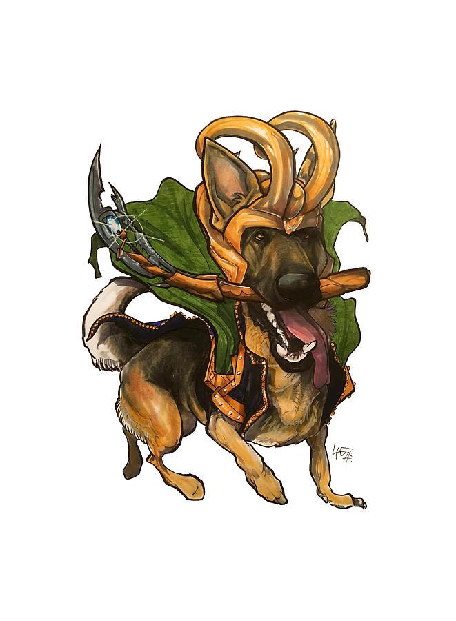 Loki German Shepherd Drawing