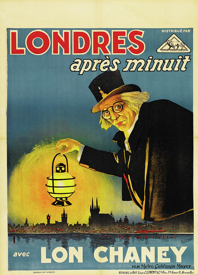london After Midnight, With Lon Chaney, 1927 Mixed Media