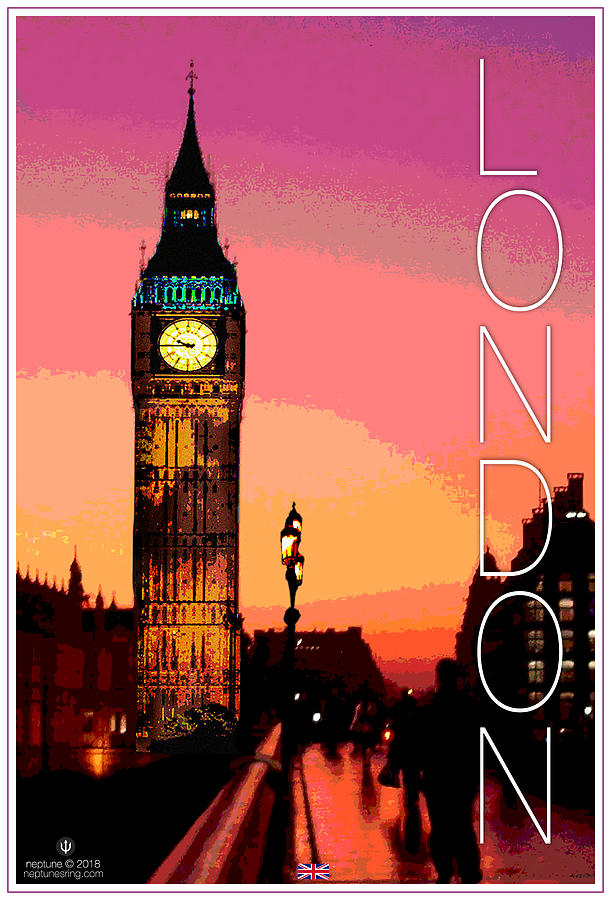 London Digital Art - London Big Ben by Jason Neptune