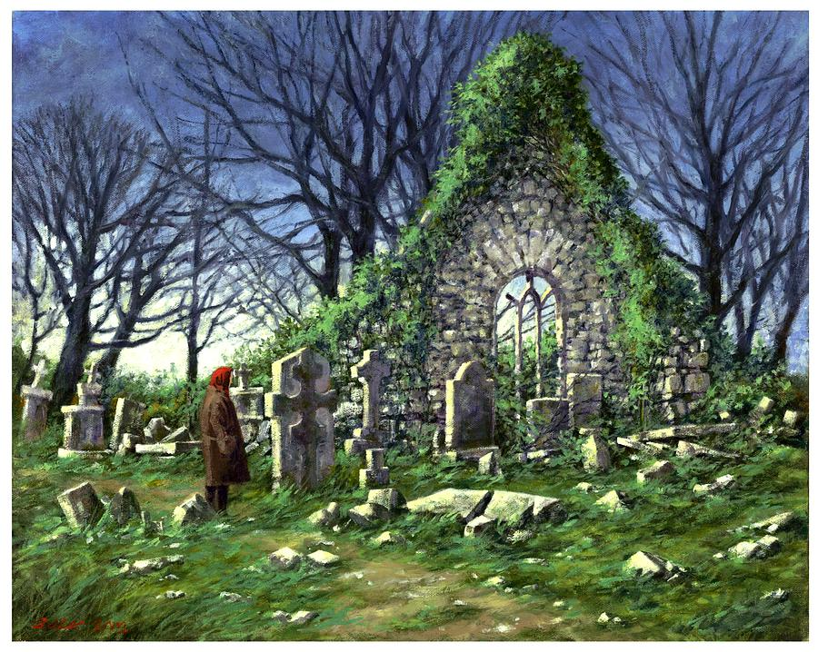 Landscape Painting - Londonderry Stones by Jim Gola