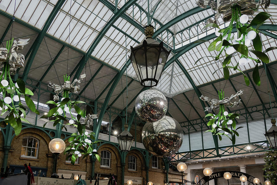 London's Covent Garden at Christmas by Marcy Wielfaert