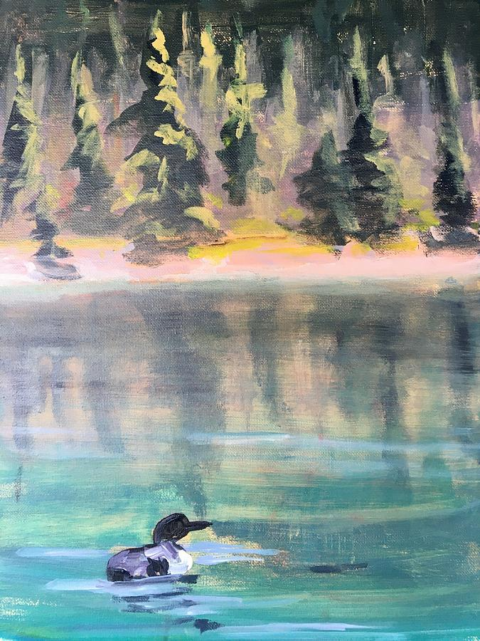 Lone Loon Painting