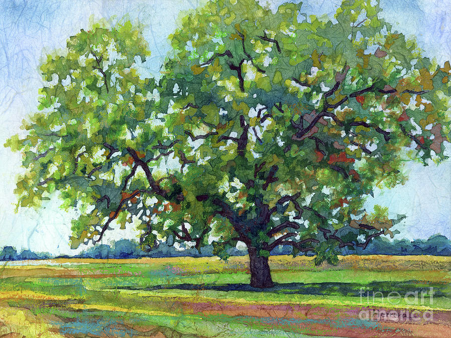 Lone Oak-pastel Colors Painting