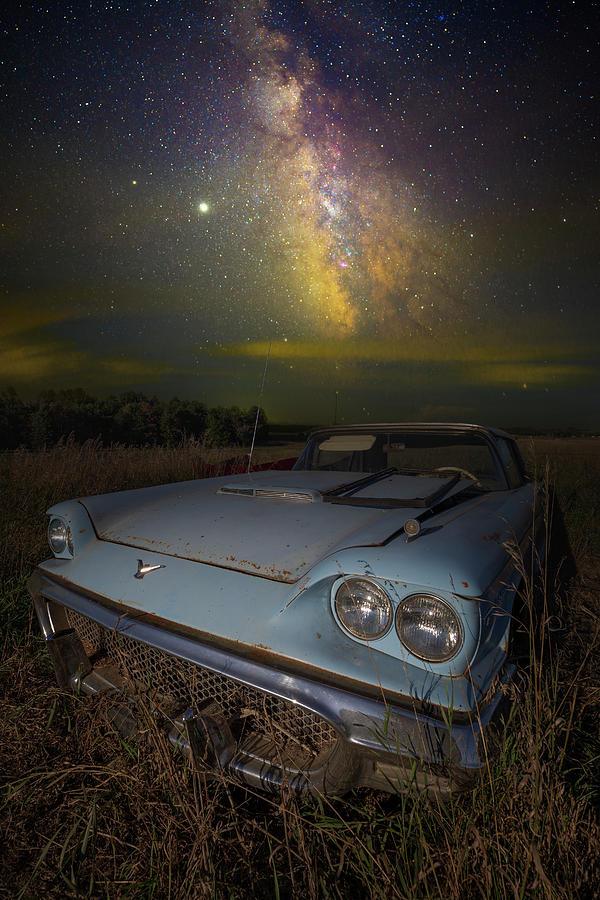 Thunderbird Photograph - Lonely Bluebird by Aaron J Groen