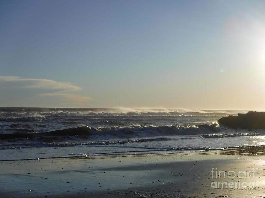 LONG BEACH IN THE WINTER by BARBRA TELFER