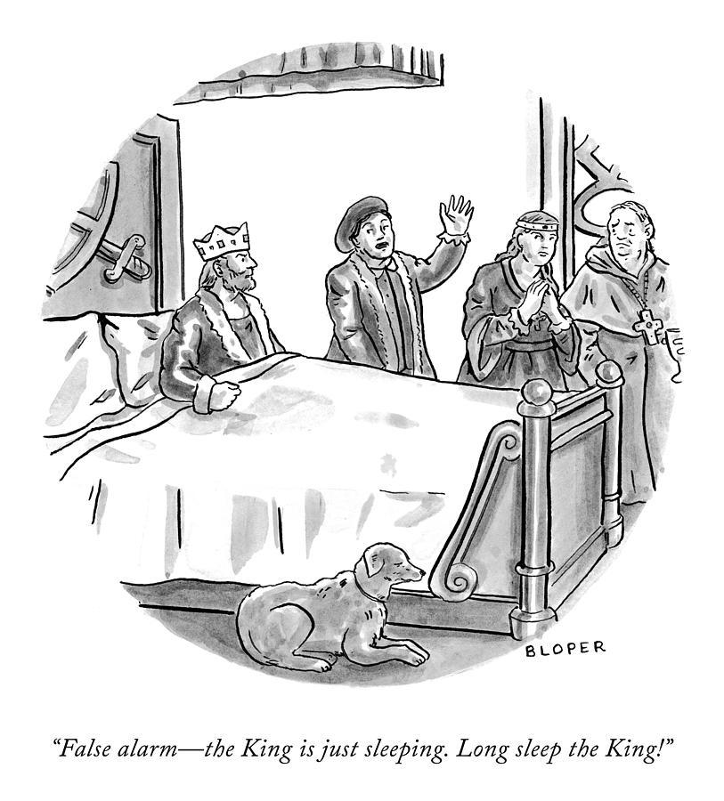 Long Sleep The King Drawing by Brendan Loper