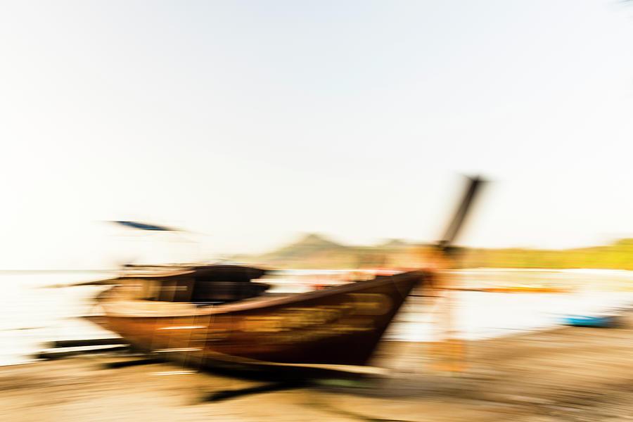 Long-tail Ashore Photograph