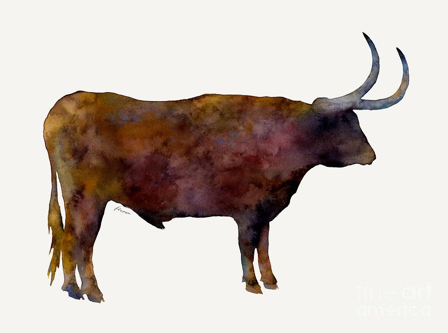 Longhorn Painting